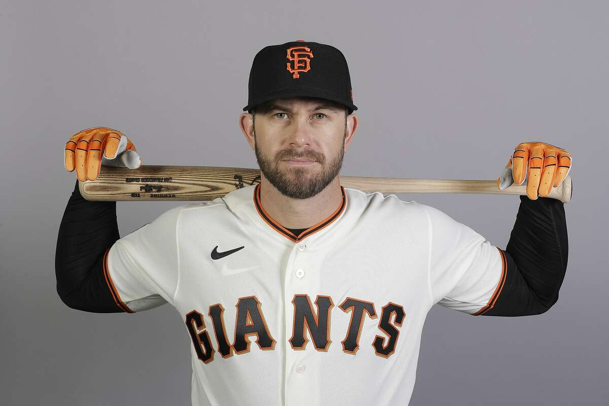 This is a 2020 photo of Evan Longoria of the San Francisco Giants baseball team. This image reflects the 2020 active roster as of Tuesday, Feb. 18, 2020, when this image was taken. (AP Photo/Darron Cummings)