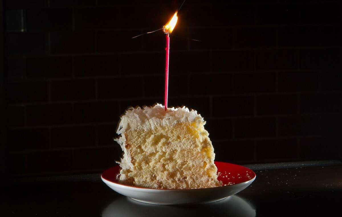 Park Tavern's birthday cake of the month for October is a coconut cake.