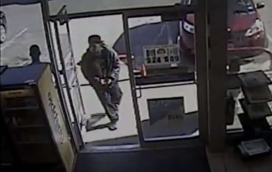 According to Houston PD robbery investigators, an unknown male walked into the Stripes, located at 7925 Howard Drive on Sunday, January 26, 2020 at 2:30 p.m. Photo: Crime Stoppers/YouTube