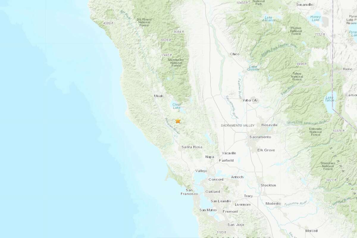 A magnitude 3.5 earthquake struck 3.5 miles West Northwest of Cobb, California and 12 miles southwest of Clearlake on Feb. 26, 2020.