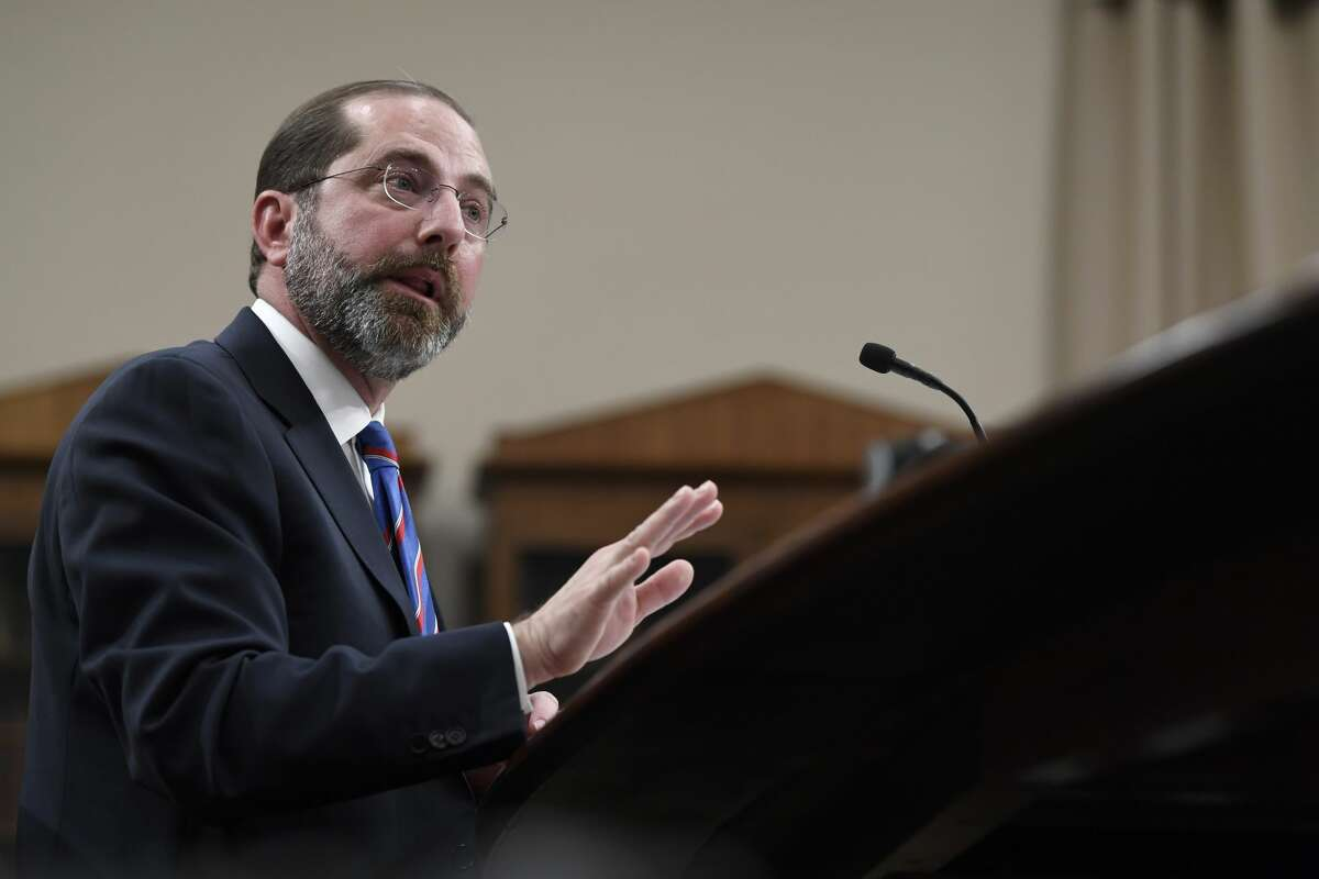 Health and Human Services Secretary Alex Azar testifies before a House Appropriations subcommittee on Capitol Hill in Washington, Wednesday, Feb. 26, 2020. (AP Photo/Susan Walsh)