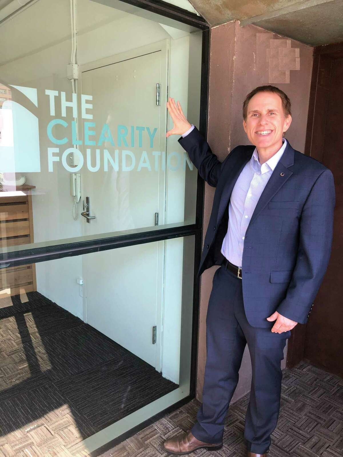 John Brannelly at Clearity headquarters.