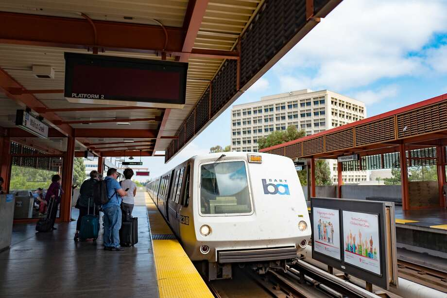 FILE PHOTO: A train arrives at the Walnut Creek BART Station. Photo: Smith Collection/Gado/Getty Images