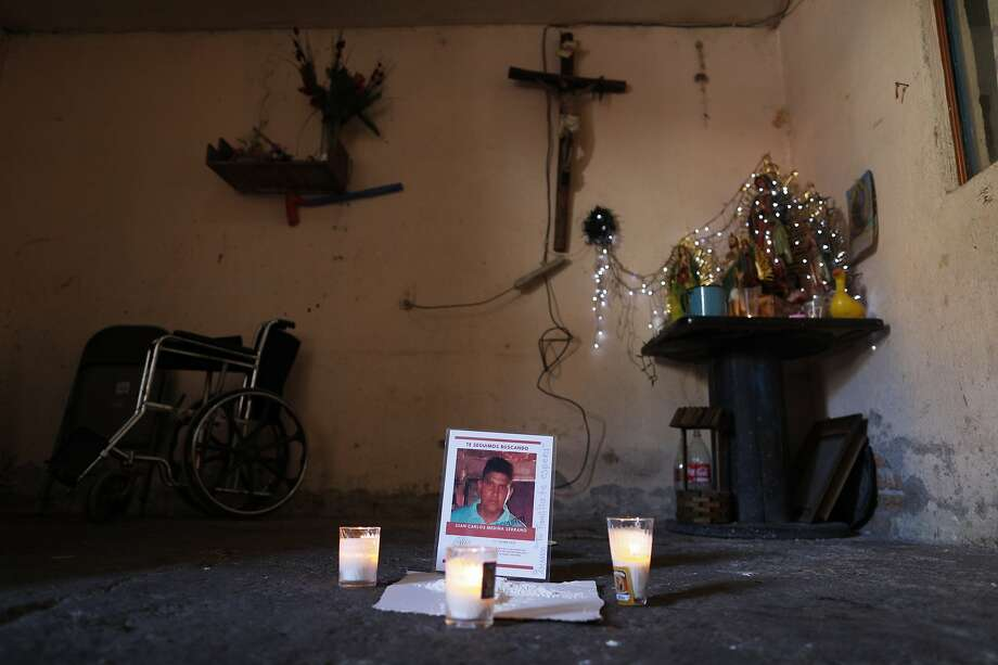 Armed men took Juan Carlos Medina, 32, from his home in Irapuato, Guanajuato state. His remains were found a few days later. Photo: Rebecca Blackwell / Associated Press