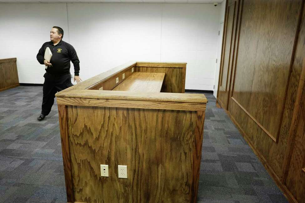 Ron Walsh, the superintendent of the Schenectady County Sheriff's office,walks through the new courtroom inside the jail facility on Wednesday, Feb. 26, 2020, in Schenectady, N.Y. (Paul Buckowski/Times Union)