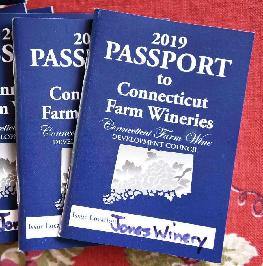 The 2019 Passport to Connecticut Wineries contest booklet photographed at the Jones Family Farms and Winery in Shelton on May 17, 2019. Photo: Arnold Gold / Hearst Connecticut Media / New Haven Register