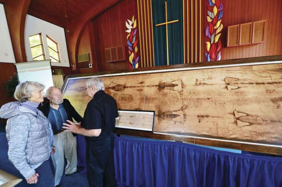 The public is invited to Norwalk's St. Peter Lutheran Church March 7 to view a life-sized replica of the Shroud of Turin and hear a lecture on the scientific research and mysteries surrounding the sacred cloth. Photo: St. Peter Lutheran Church / Contributed Photo