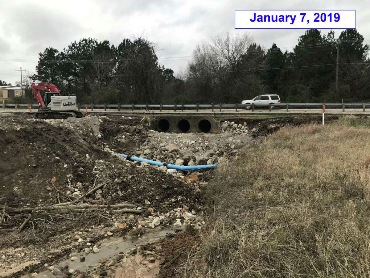 The City of Montgomery is working with The Texas Department of Transportation to fix damages caused by the erosion of Atkins Creek and to prevent damage to FM 1097.