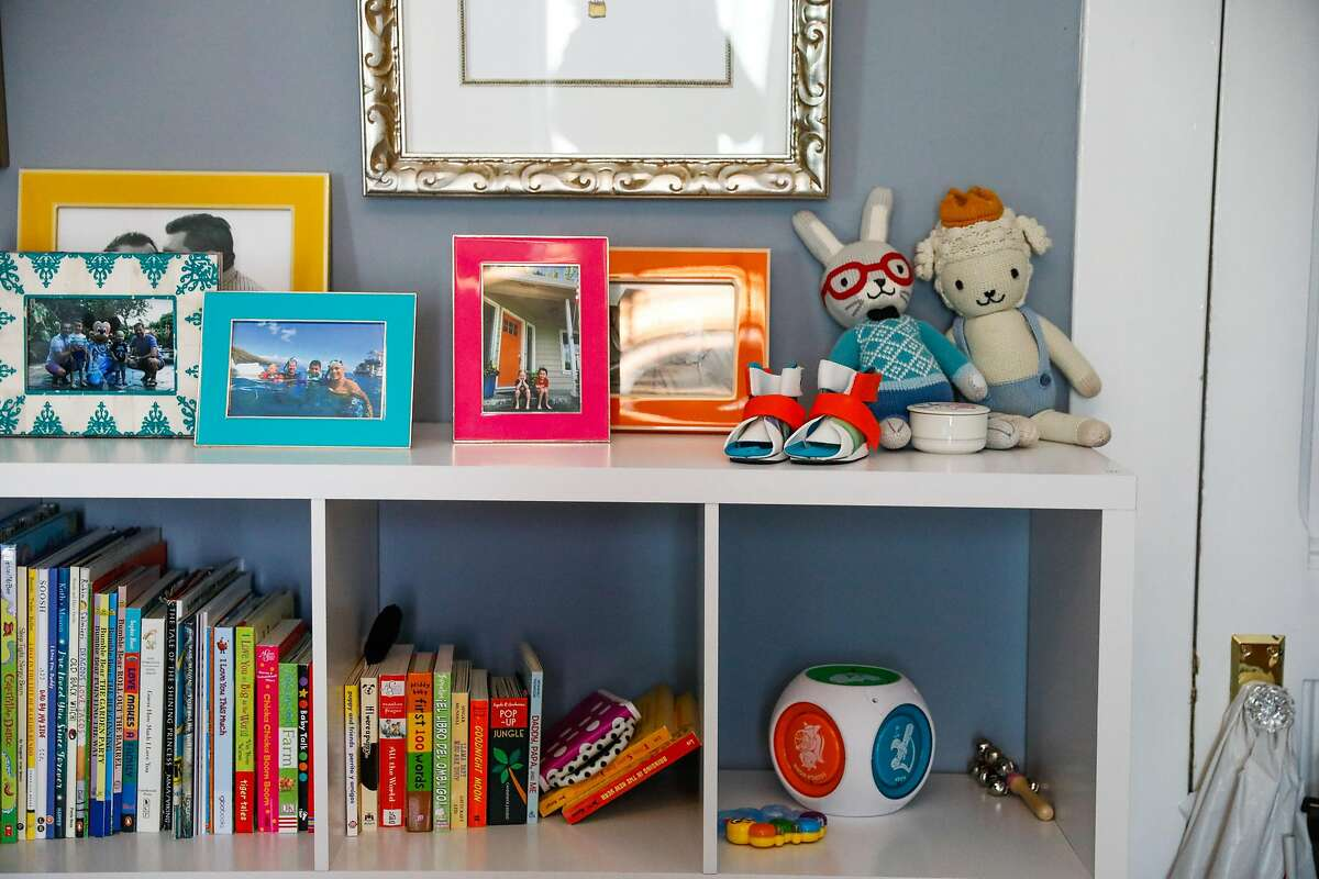 Baby toys and books at the home of foster parents William and Joshua Jackson-Wyatt at their home on Wednesday, Feb. 26, 2020 in San Francisco, California.