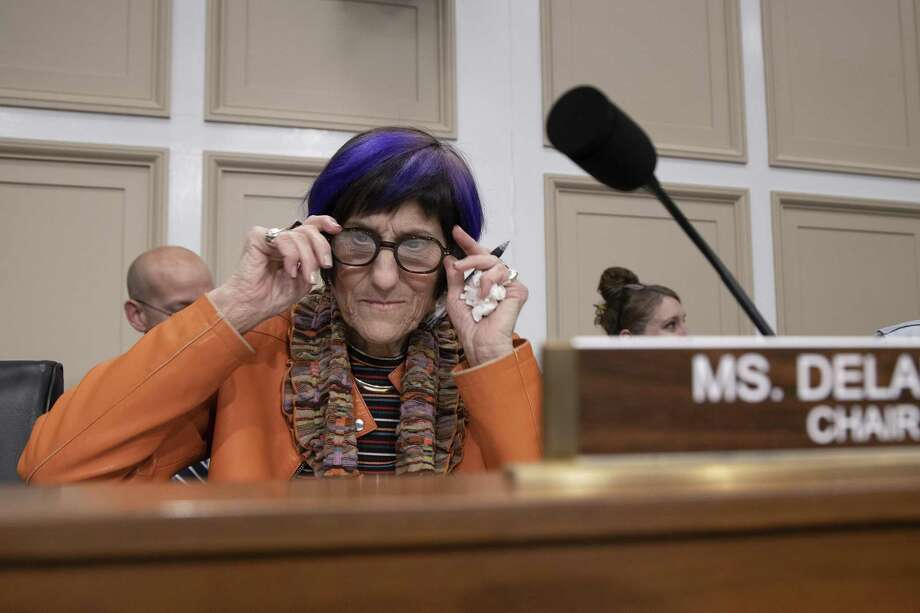 WASHINGTON, DC - FEBRUARY 26: Chair of the House Appropriations Subcommittee on Labor, Health and Human Services, and EducationRep. Rosa DeLauro(D-CT) attends testimony by HHS Secretary Alex Azar on February 26, 2020 in Washington, DC. Secretary Azar told senators on Tuesday that the U.S. could need 270 million more face masks to fight the new coronavirus if there is a domestic outbreak. (Photo by Tasos Katopodis/Getty Images) Photo: Tasos Katopodis / Getty Images / 2020 Getty Images