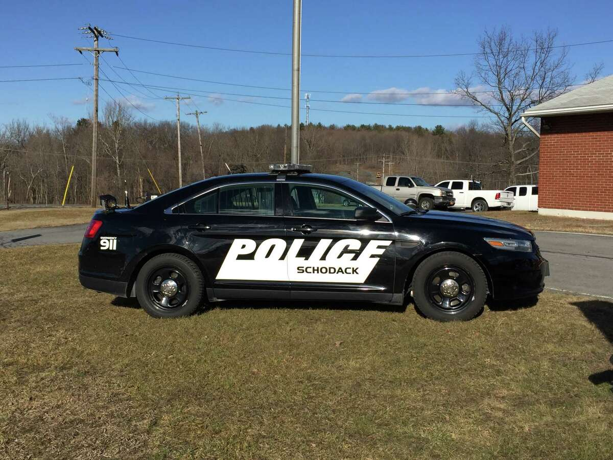 Schodack police are congratulating Chief Bernhard Peter on his retirement Friday Jan. 13, 2017. (Kenneth C. Crowe II / Times Union)