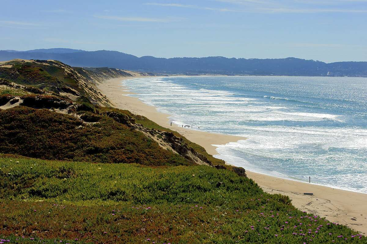 In this March 20, 2012, photo provided by the California State Parks shows Fort Ord Dunes State Park in Sand City, Calif. The first new state park campground on the California coast in 30 years is expected to feature ocean frontage on Monterey Bay when it opens in 2022. Fort Ord Dunes State Park has 4 miles (6 kilometers) of ocean beach on the bay and is located near Marina, south of Moss Landing and north of Monterey, The San Francisco Chronicle reported Saturday, Feb. 23, 2020. (Brian Baer/California State Parks, 2020, via AP)