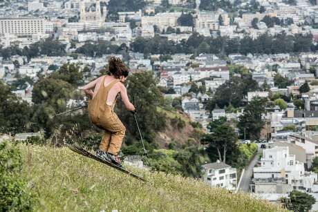 Michael Hibbs skis the eastern face of Twin Peaks while filming The Kook in 2018