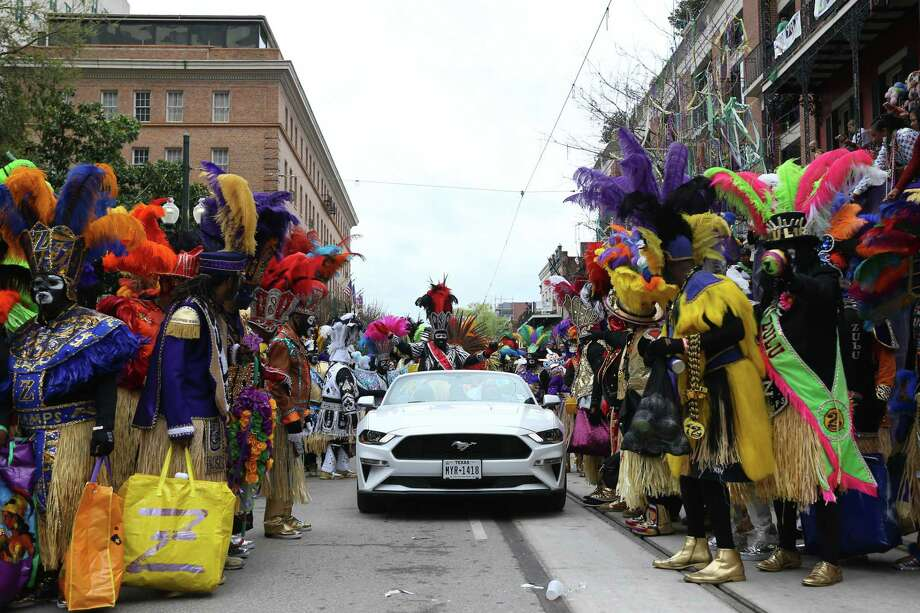 NEW ORLEANS, LOUISIANA - FEBRUARY 25: Members of the Zulu Social Aid and Pleasure Club parade down St. Charles Avenue during Fat Tuesday celebrations on February 25, 2020 in New Orleans, Louisiana. Fat Tuesday, or Mardi Gras in French, is a celebration traditionally held before the observance of Ash Wednesday and the beginning of the Christian Lenten season. (Photo by Jonathan Bachman/Getty Images) Photo: Jonathan Bachman / Getty Images / 2020 Getty Images