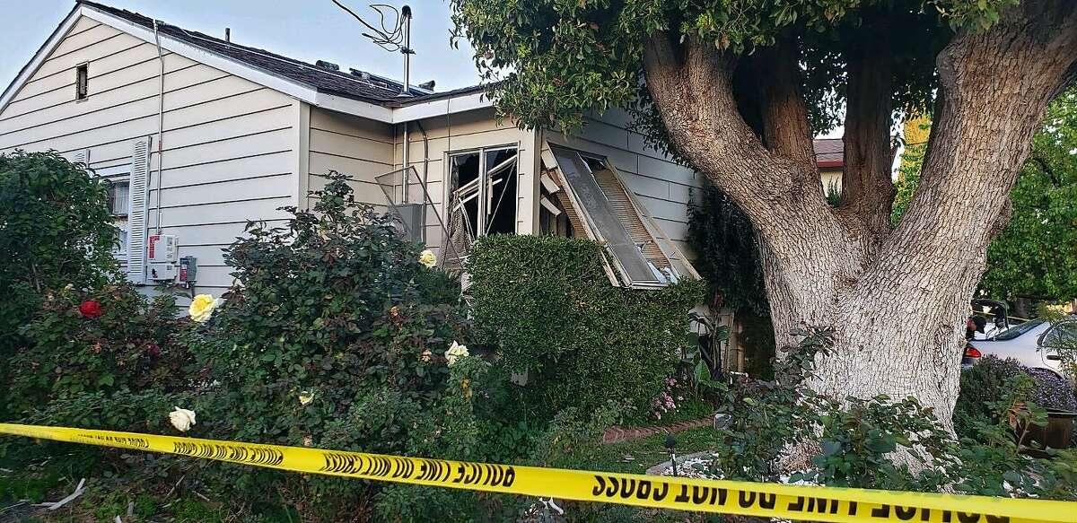 A man died on Wednesday, Feb. 26, 2020 after an explosion at a single-story Pittsburg home, according to theContra Costa County Fire Protection District. Aphotoprovided by fire officials shows thelocation of the explosion on the100 block of Linscheid Drive in Pittsburg, Calif.