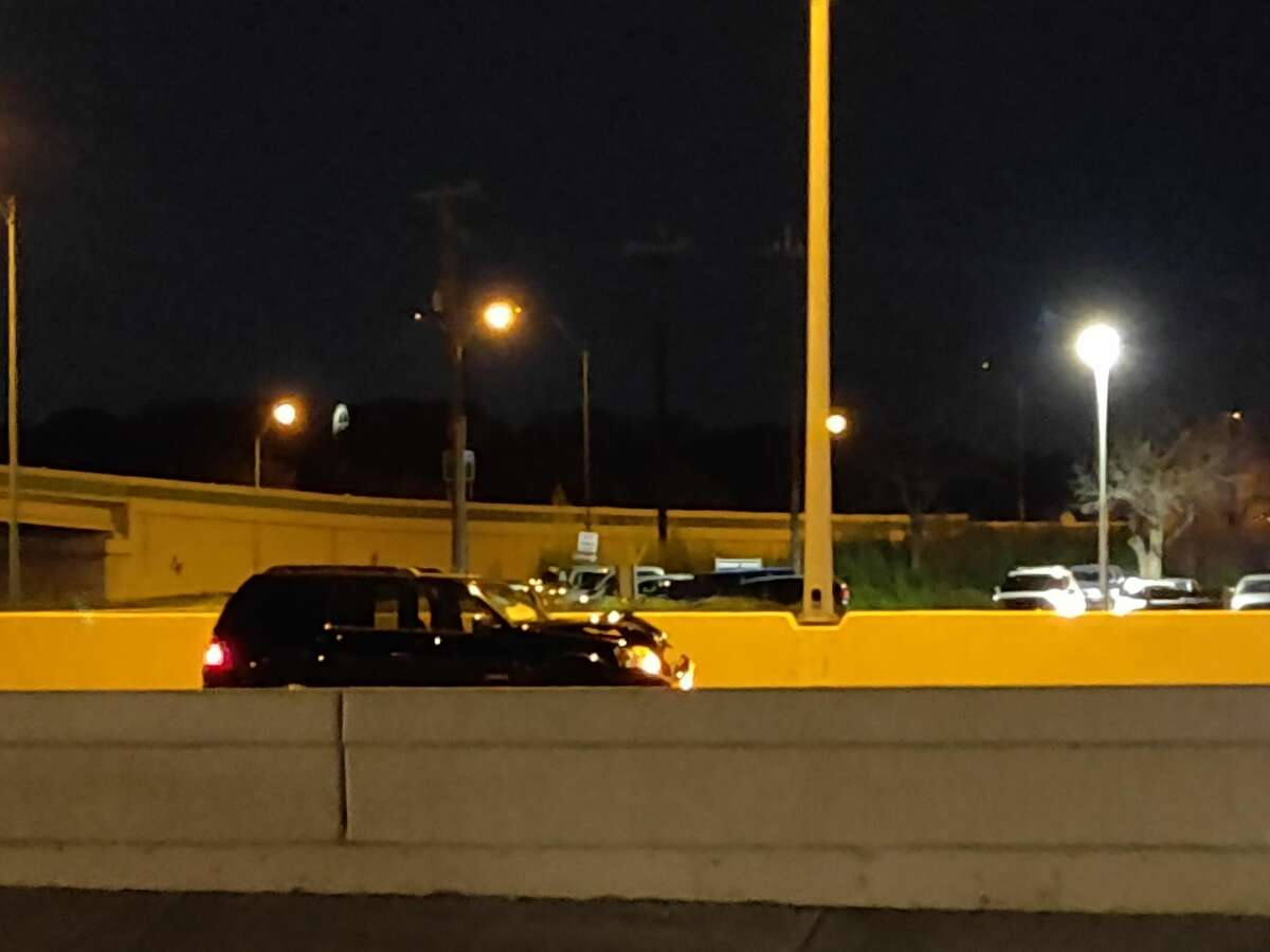 A man was hit by an SUV on Wednesday evening while trying to cross U.S. 281 on the North Side.