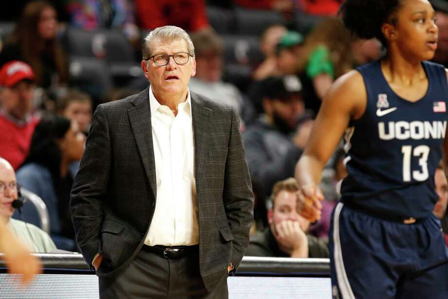 UConn coach Geno Auriemma is trying to preserve as much as he can of UConn's orginal schedule before the pandemic hit. Photo: Gary Landers / Associated Press / Copyright 2020 The Associated Press. All rights reserved.