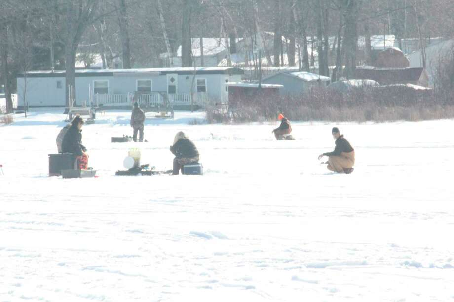Area lakes continue to get visited by ice anglers. (Star photo/John Raffel)