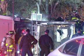 Investigators are looking at arson as the cause of a fire at Taqueria Aguascalientes restaurant late Wednesday night.