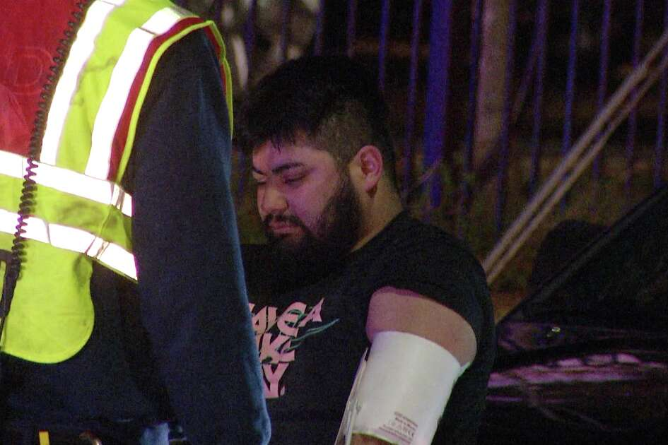 An off-duty police officer was injured after being hit by a suspected drunk driver near I-35 and I-10 early Thursday morning.