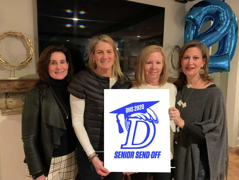 Darien parents are planning the first inaugural senior send-off for the Class of 2020. Pictured are Sheila O'Boyle, Lynne Wilson, Brandi Maniscalco, chairwoman, and Karin Sharp. Photo: Contributed Photo