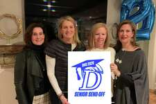 Darien parents are planning the first inaugural senior send-off for the Class of 2020. Pictured are Sheila O'Boyle, Lynne Wilson, Brandi Maniscalco, chairwoman, and Karin Sharp.