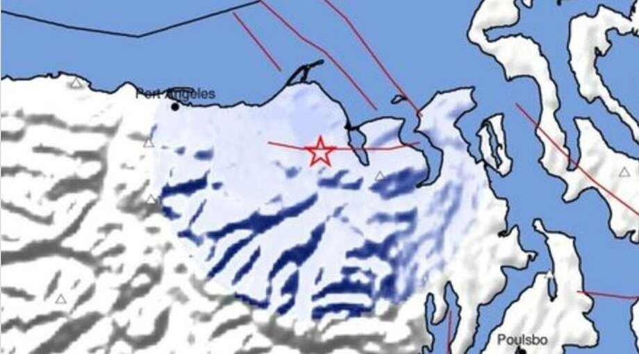 Location of where a 3.0 earthquake hit along the Olympic Peninsula. Photo: Pacific Northwest Seismic Network