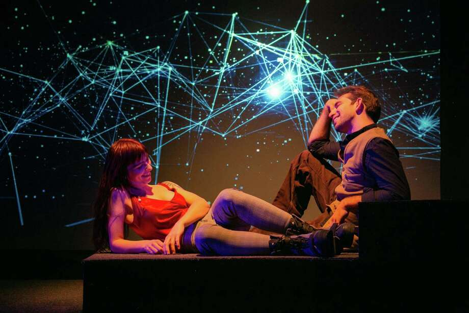 "TheatreWorks New Milford is presenting its production of ""Constellations"" by Nick Payne Friday and Saturday nights at 8 p.m. through March 7. The show features Matthew Benjamin Horowitz of New Haven and Heather Haneman of Dover Plains, N.Y., above. Photo: Courtesy Of Richard Pettibone / The News-Times Contributed"