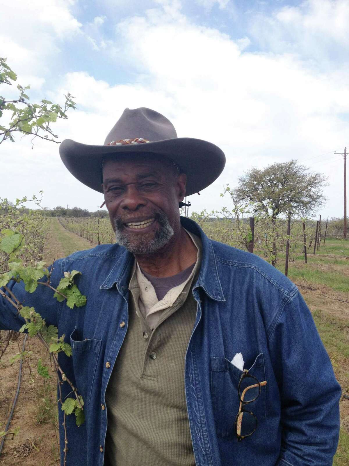 Former pro football player Alphonse Dotson grows grapes and makes award-winning wines on his spread near Pontotoc. A Mason County resident, he's either a West Texan or a Central Texan.