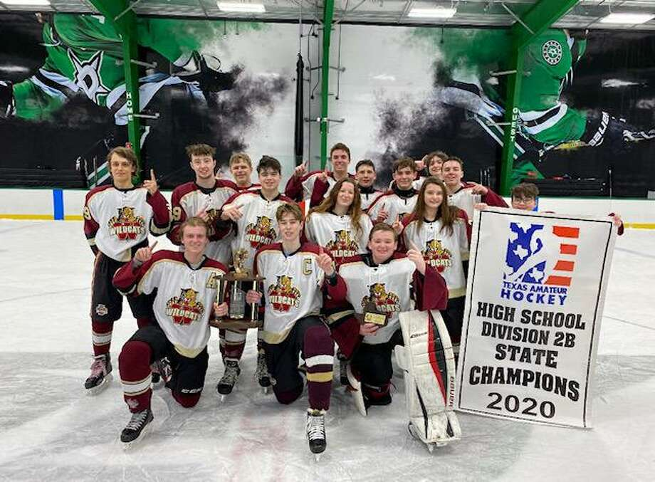 The Cy Woods hockey team won the Texas Amateur Hockey Association 2020 State High School Hockey Division 2B Championship over Grapevine Colleyville in late January. Photo: Cy Woods Hockey