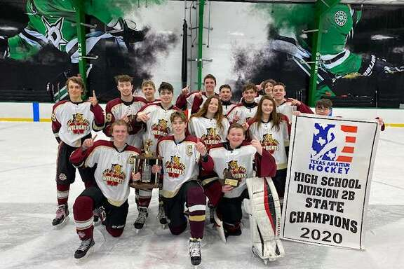 The Cy Woods hockey team won the Texas Amateur Hockey Association 2020 State High School Hockey Division 2B Championship over Grapevine Colleyville in late January.
