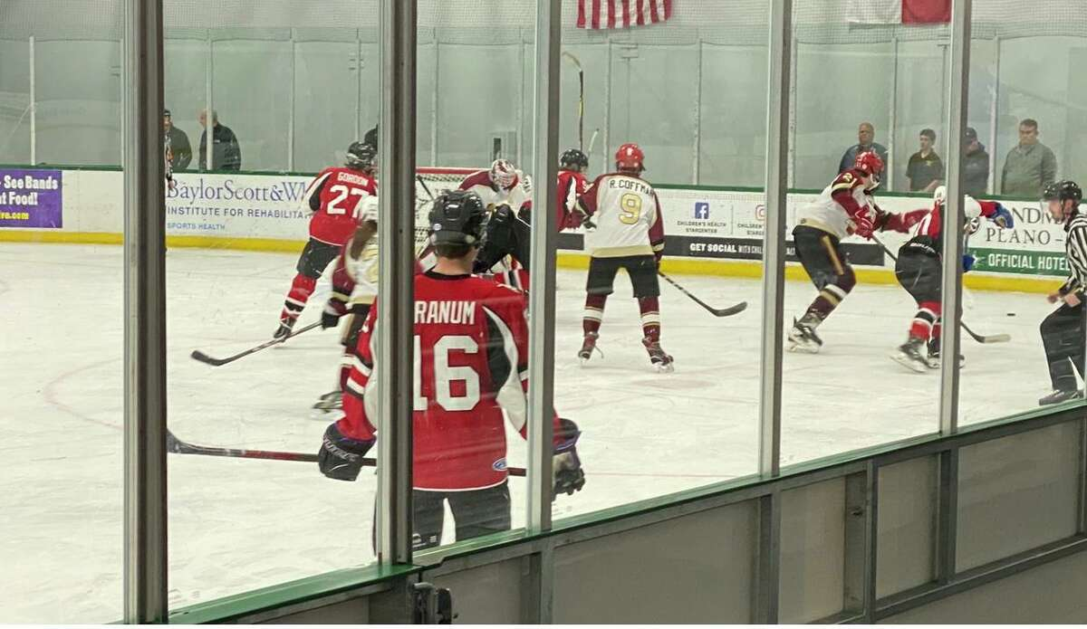 The Cy Woods hockey team competes in the Texas Amateur Hockey Association 2020 State High School Hockey Division 2B Championship vs. Grapevine Colleyville in late January.