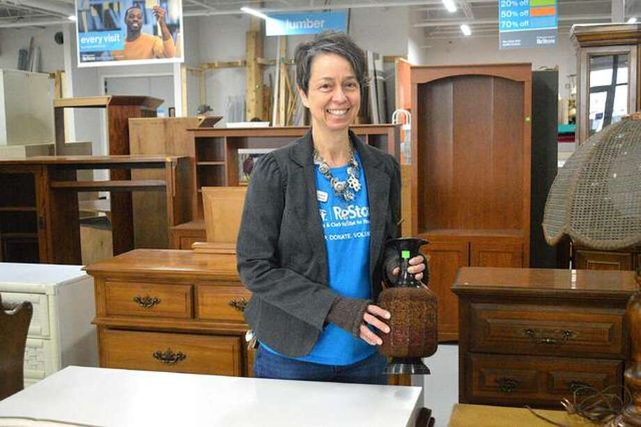 Carrie Wolf is the manager of the new Lewis & Clark Habitat for Humanity ReStore at 1950 Vandalia St., Collinsville. The store had its grand opening on Feb. 22. Photo: Scott Marion|The Intelligencer