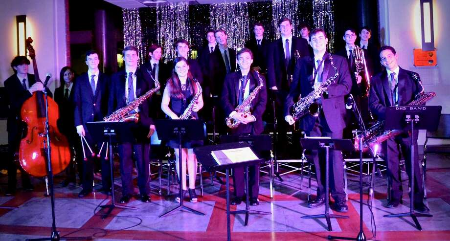 Members of the DHS Jazz Ensemble performing at the Sweet Night of Jazz Photo: Contributed