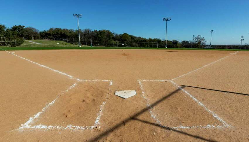 A baseball/softball field is used for USAA's intramural sports leagues.