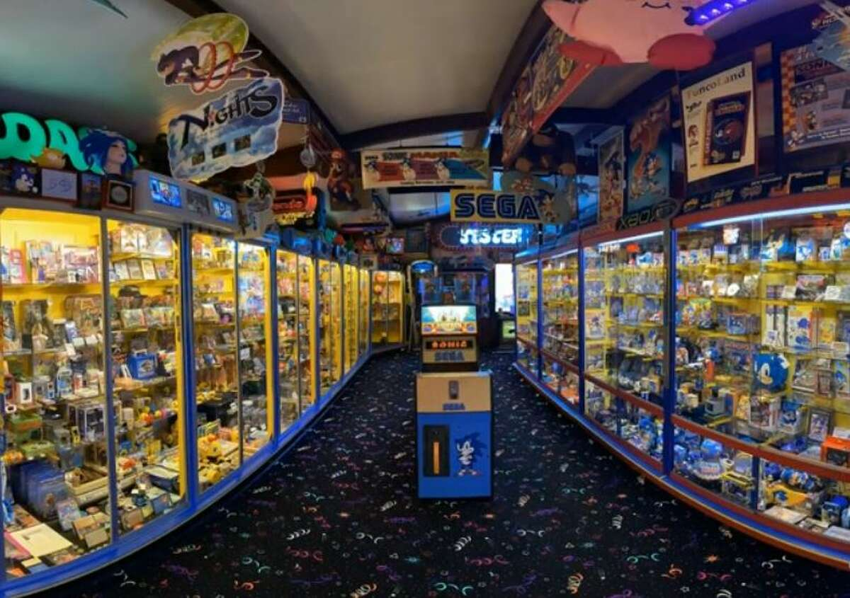 Nearly every corner of the 1,600-square-foot building located behind Evans' property is covered with memorabilia from Nintendo, SEGA and various arcade-related companies.