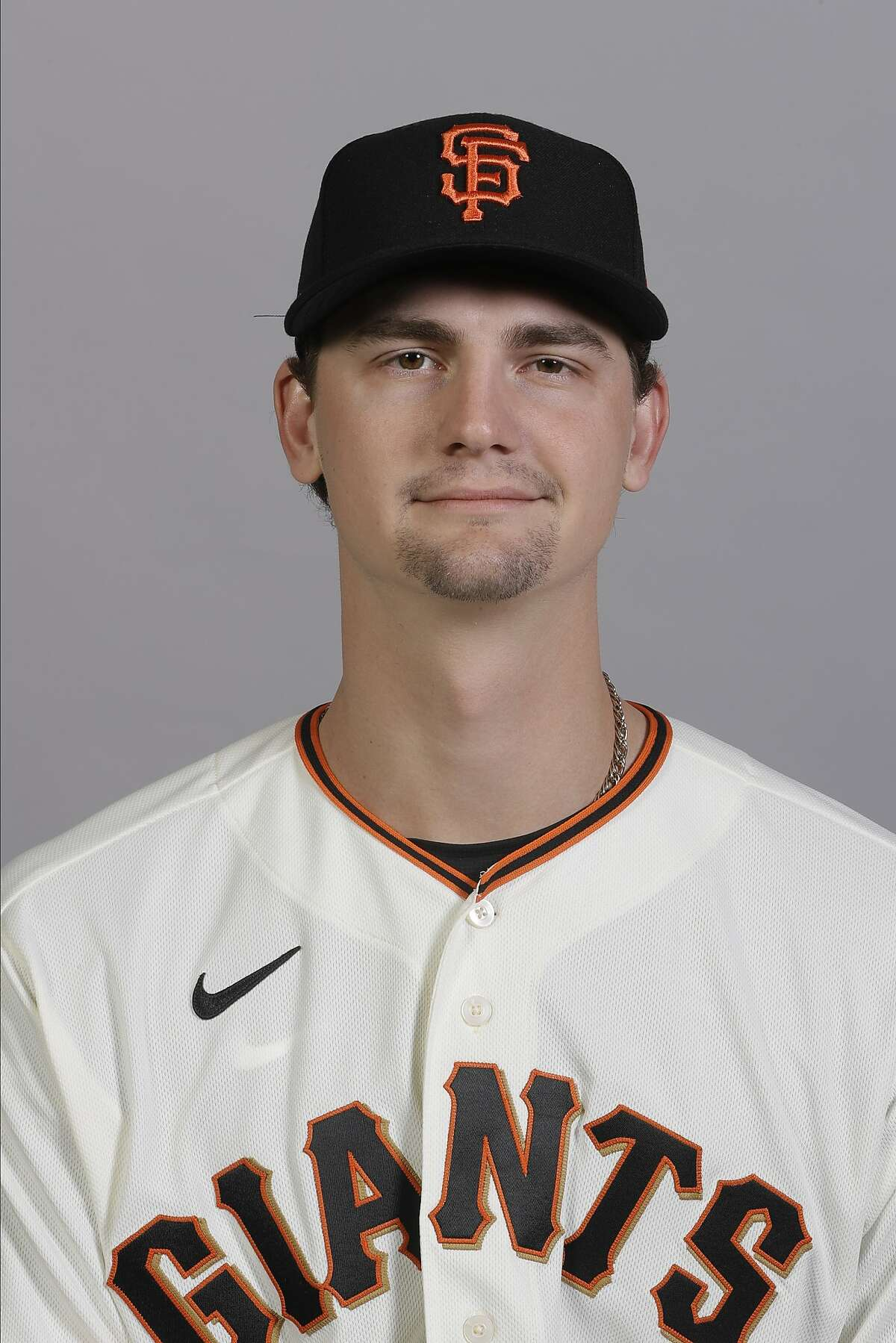 This is a 2020 photo of Sean Hjelle of the San Francisco Giants baseball team. This image reflects the 2020 active roster as of Tuesday, Feb. 18, 2020, when this image was taken. (AP Photo/Darron Cummings)