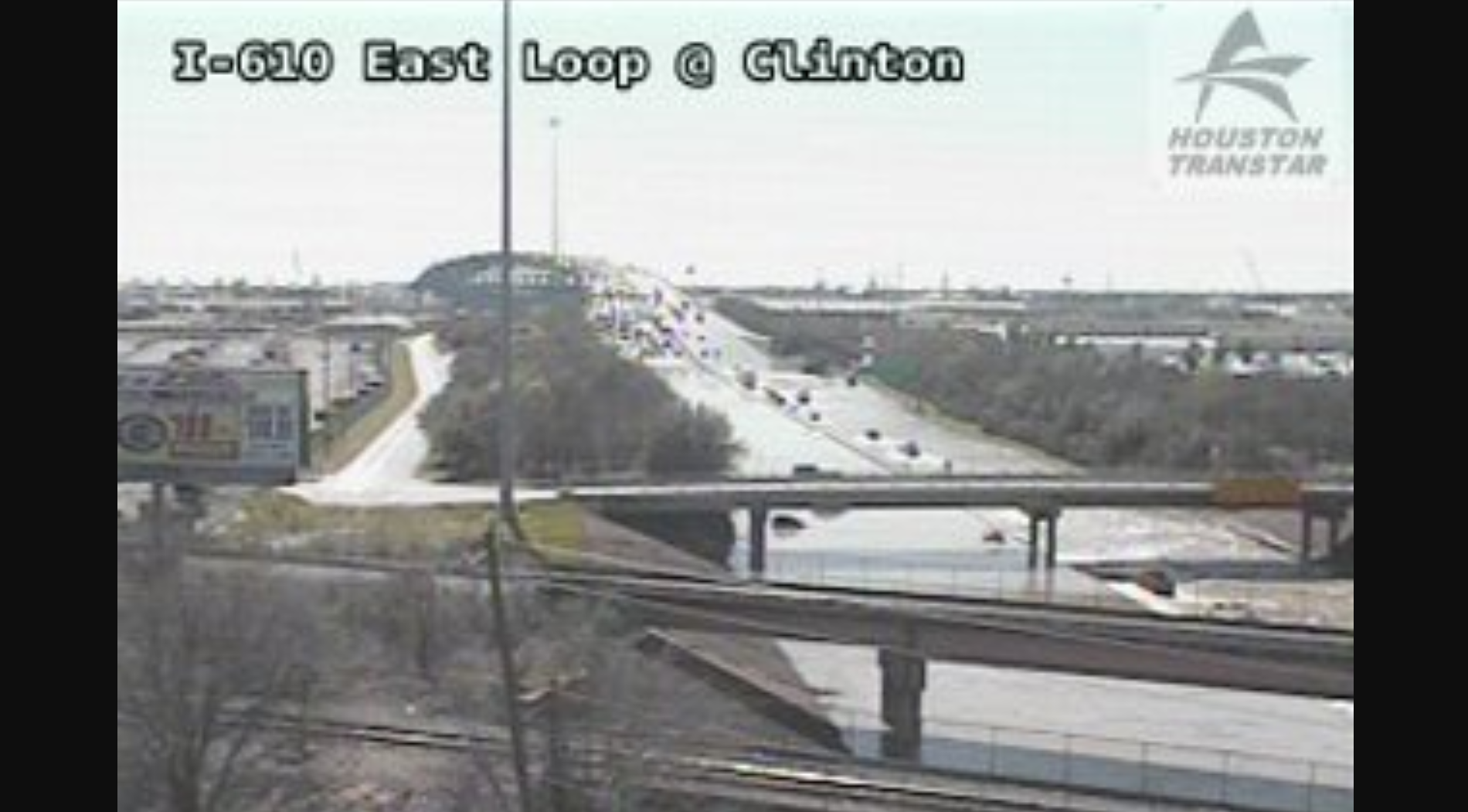 All East Loop 610 lanes flooded, cars under water near Port of Houston