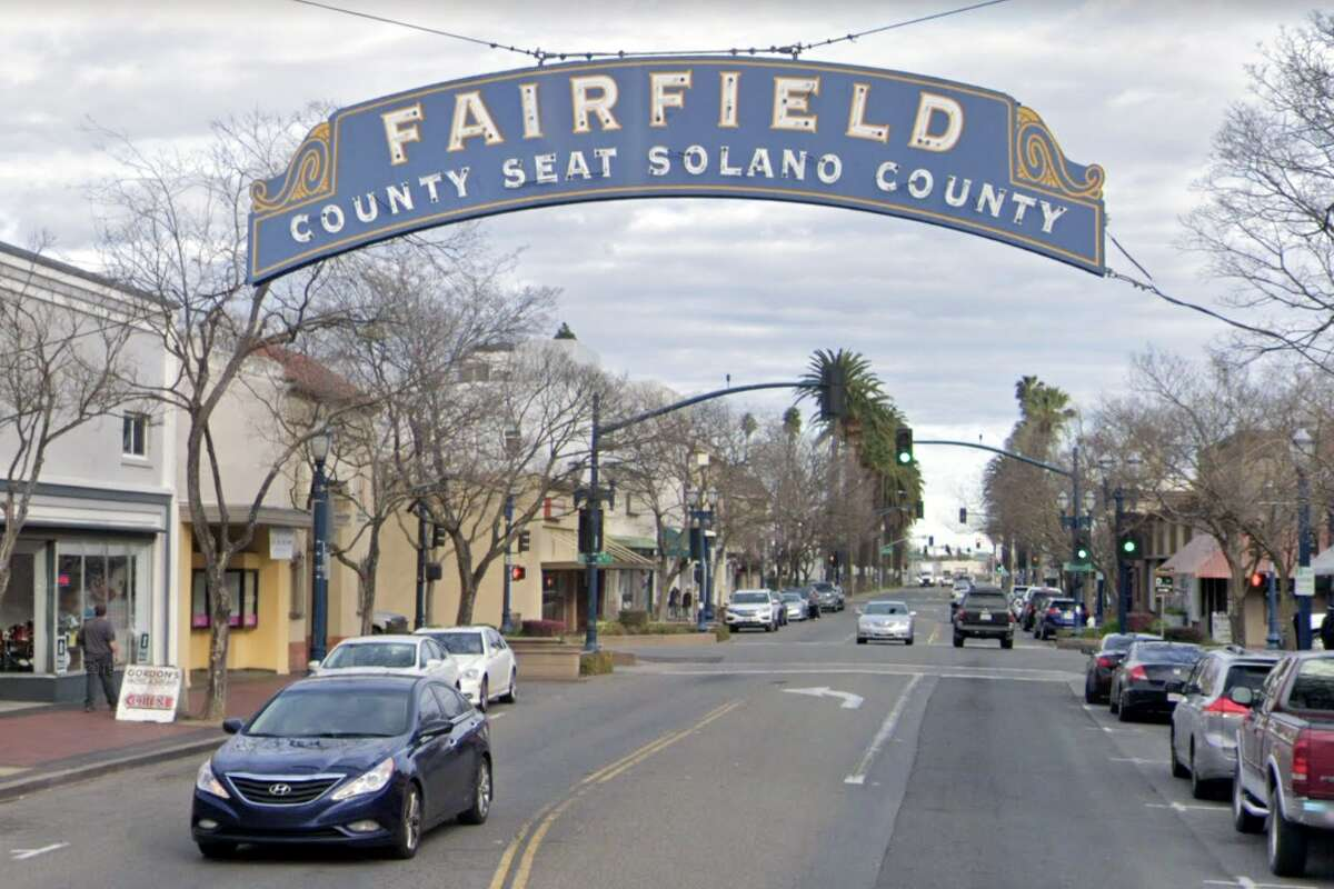 The sign for the City of Fairfield on Texas Street in Fairfield, Calif. in Solano County.