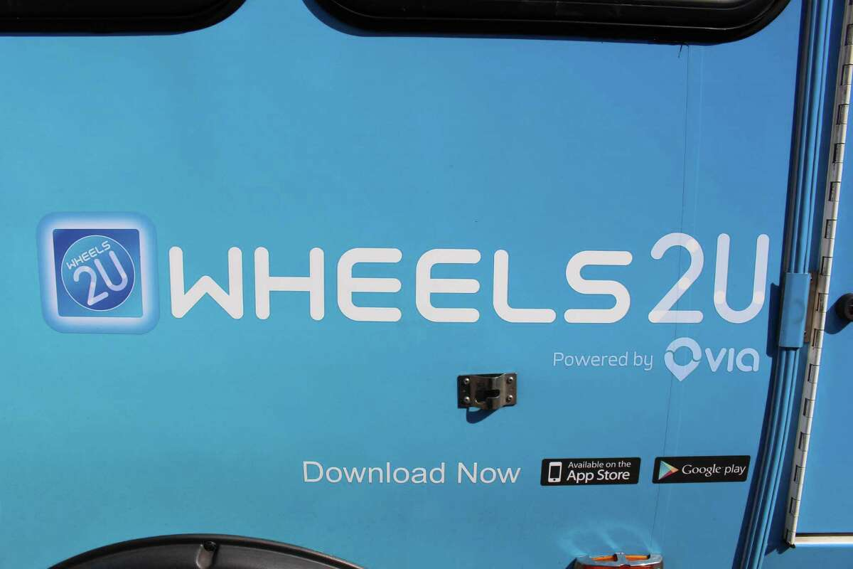 A look at the newly branded Wheels2U buses now that the Norwalk Transit District has selected Via Mobililty as its new microtransit provider.