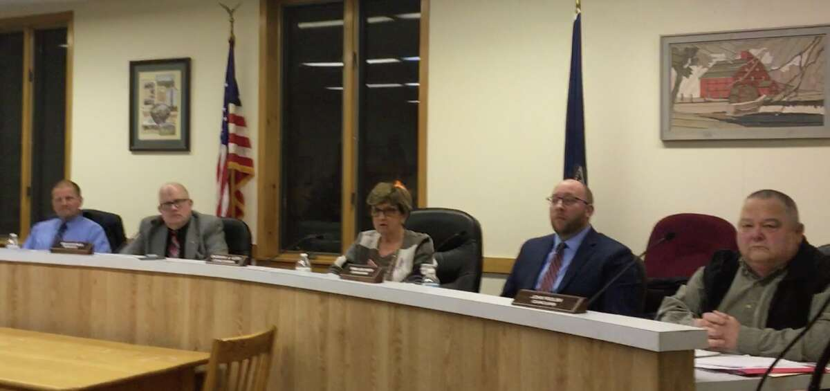 From left, Milton town attorney James Craig, Supervisor Benny Zlotnick and town board members Barbara Kerr, Ryan Isachsen and John Frolish meet in the town hall that is now closed.