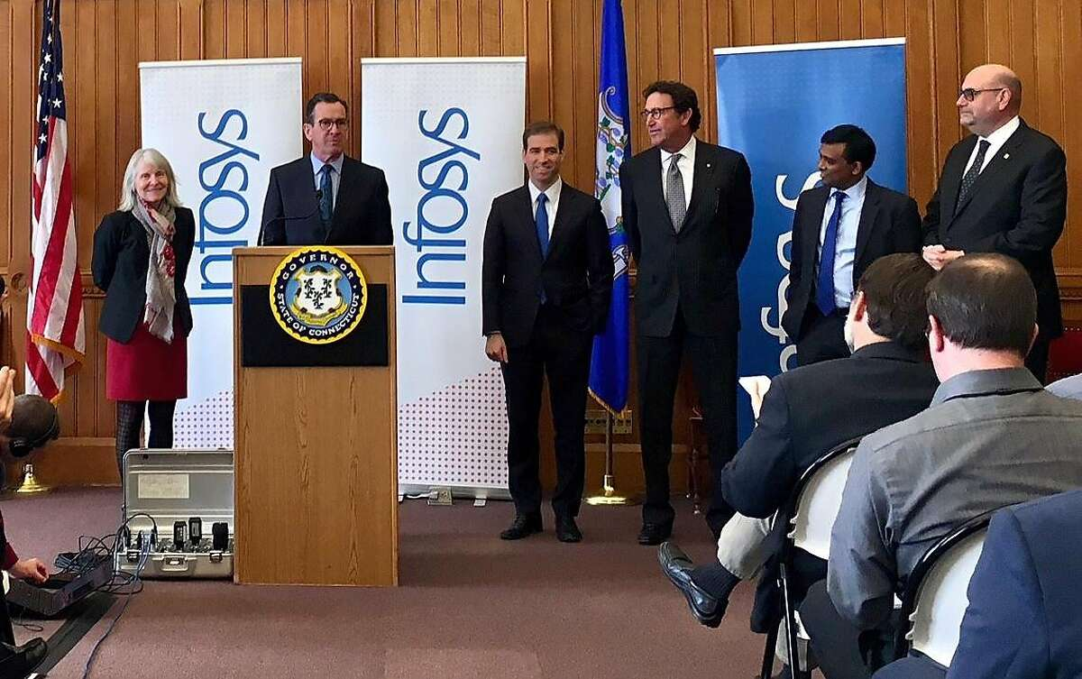 Wednesday, March 14, 2018 -- Governor Dannel P. Malloy today announced that Infosys, a global leader in consulting, technology, and next-generation IT services, is planning to establish a technology and innovation hub in Hartford. The $20.6 million project will see the creation of 1,000 good paying, high-tech jobs in the state's capital city by 2022.