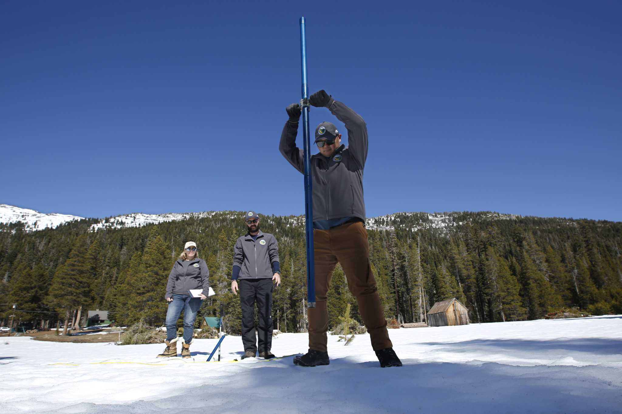 Sierra snow survey: Not time to panic, but snowpack less than half of normal