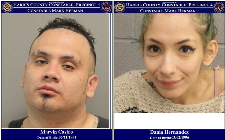According to case reports, two incidents involving Marvin Castro and Dania Hernandez occurred Monday at the Buc-ee's at 27106 Northwest Freeway. A terroristic threat incident was reported just after 2 a.m., and then an aggravated robbery was reported just before 8 p.m. Photo: Harris County Sheriff's Office/Facebook