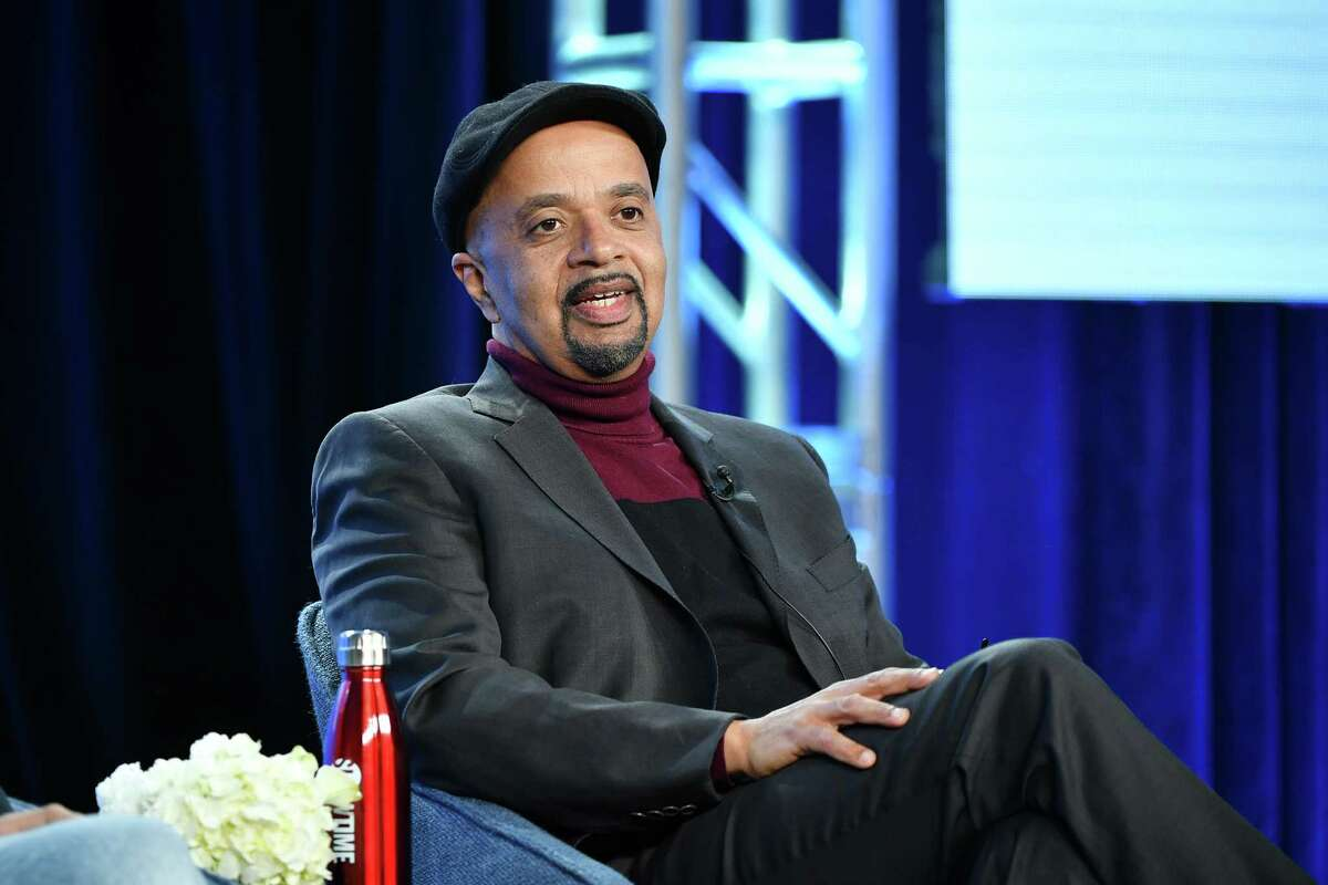"""Author and executive producer, James McBride of """"The Good Lord Bird"""" speaks during the Showtime segment of the 2020 Winter TCA Press Tour at The Langham Huntington, Pasadena on January 13, 2020 in Pasadena, California. (Photo by Amy Sussman/Getty Images)"""
