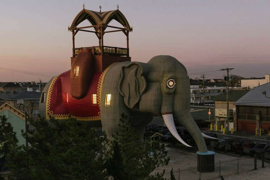 Lucy the Elephant in New Jersey is open as an Airbnb for three nights in March Photo: Airbnb