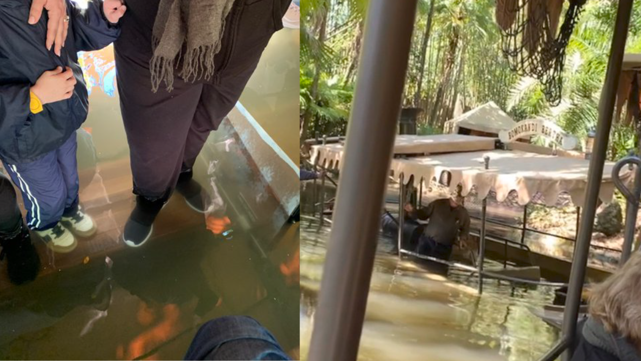 Jungle Cruise ride at Disney's Magic Kingdom takes on water with guests on board