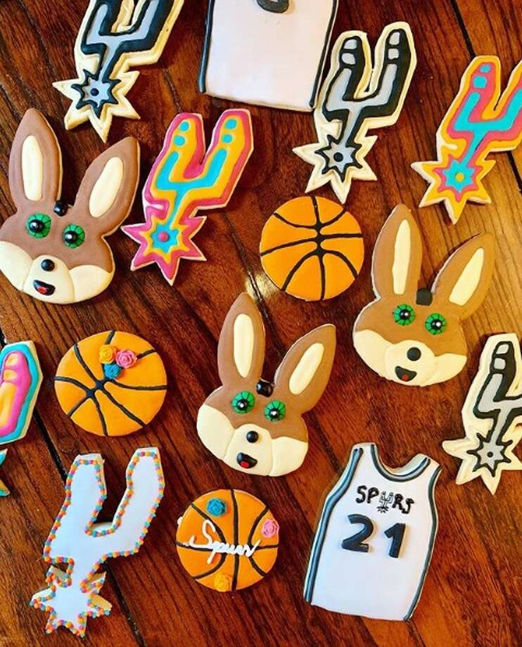 Inspired by the colorful and vibrant culture in San Antonio, a family of three are cooking up sweet Spurs and Fiesta-themed cookies and cakes for their new online bakery business. Photo: Capcakes