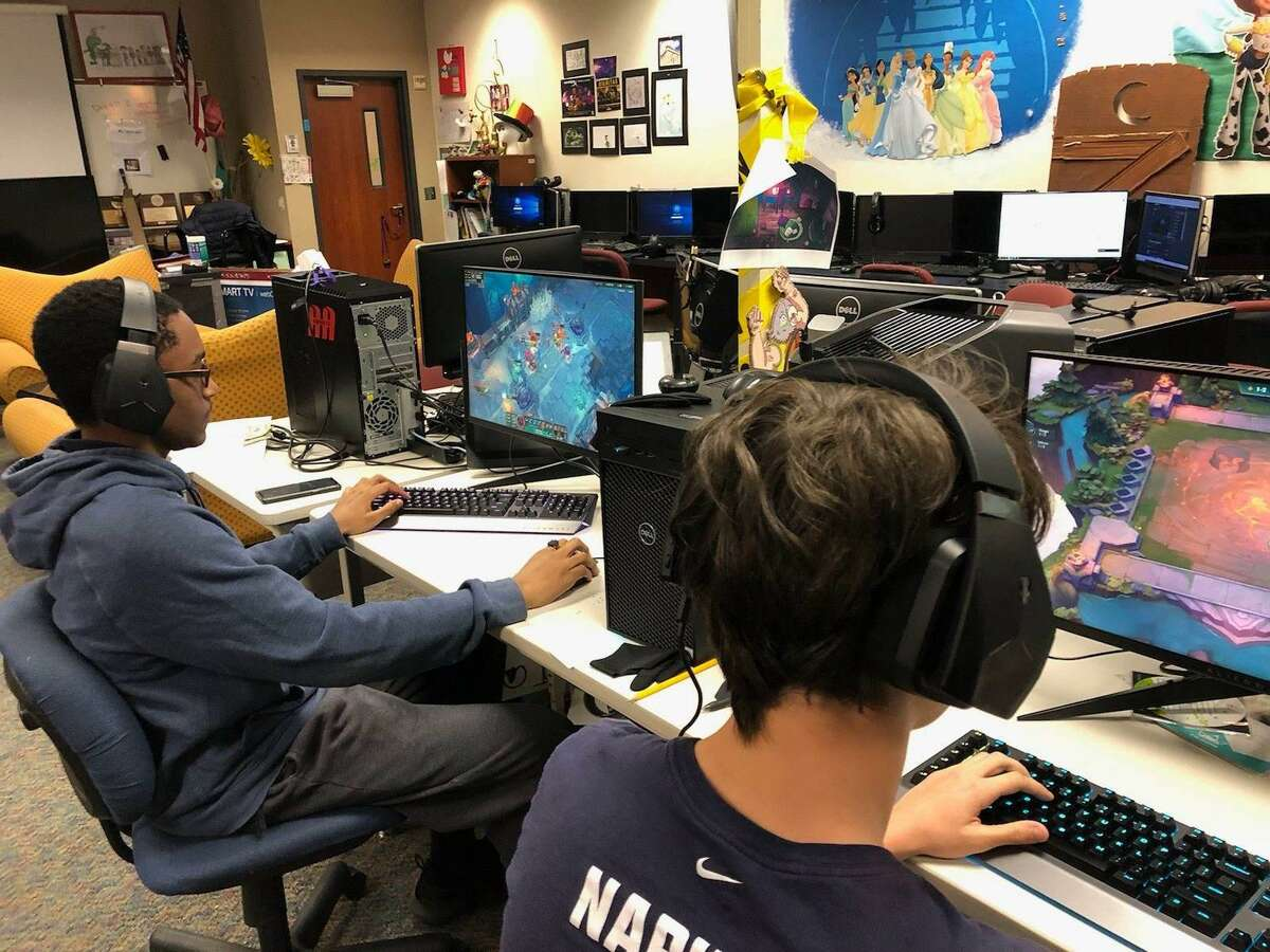 There are many jobs in the market for esports in a wide variety of roles, according toGregg Kite, technology trainer for Humble ISD and President and CEO of the Texas Scholastic Esports Federation. With the introduction of a new esports class, they hope to give students an opportunity to explore fields within the industry that could be pursued in college and eventually work in the esports industry or elsewhere. Pictured:Jayden Lacombe, a junior at Atascocita High School.