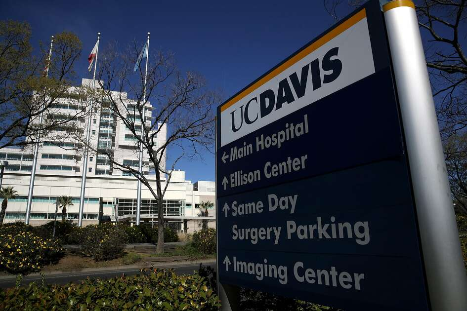 "SACRAMENTO, CALIFORNIA - FEBRUARY 27: A view of UC Davis Medical Center on February 27, 2020 in Sacramento, California. A Solano County, California resident who is the first confirmed case of the Coronavirus COVID-19 that was ""community acquired"" has been held in isolation while undergoing treatment at the UC Davis Medical Center for the past week. (Photo by Justin Sullivan/Getty Images)"
